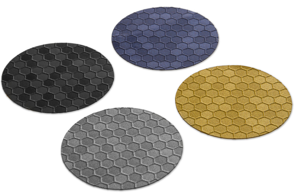 Hex comes in 4 colors.  Black, Metallic Blue, Metallic Silver, and Metallic Gold.