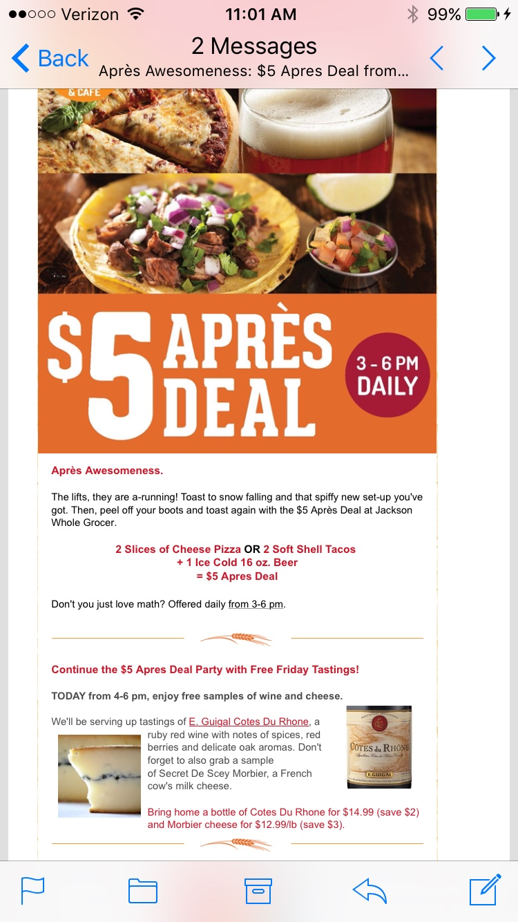 Weekly Grocery Store Newsletter Campaign