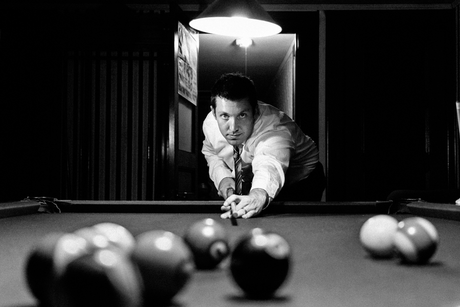 Groom-Playing-Pool