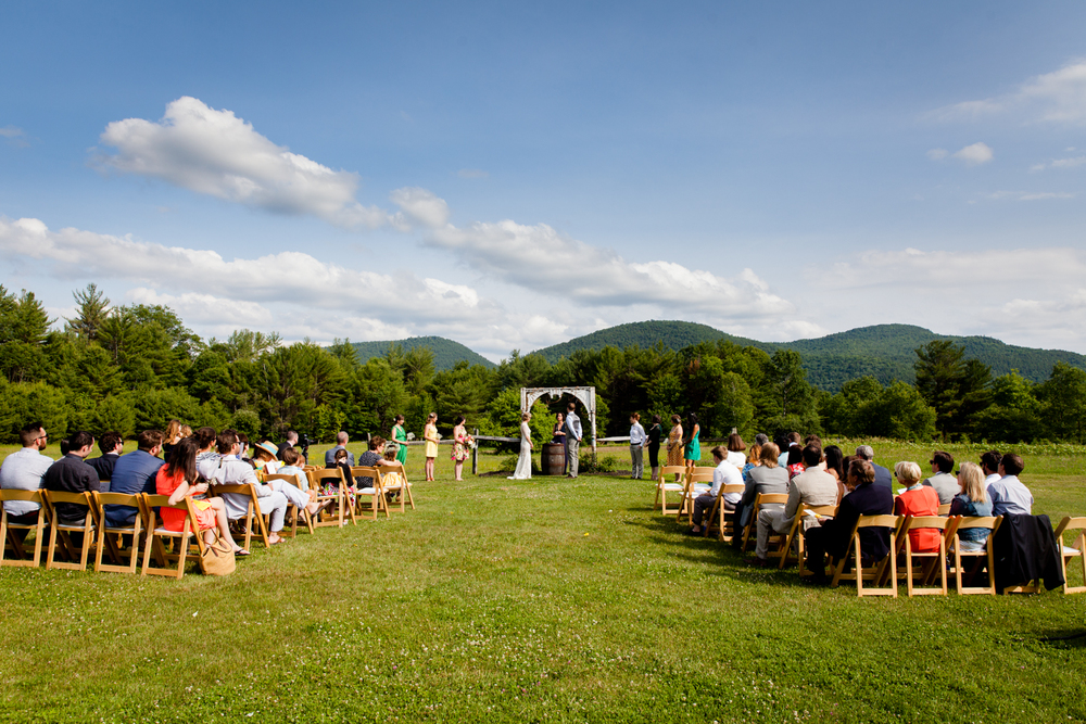 A beautiful ceremony at Burlap and Beams in the New York Adirondacks