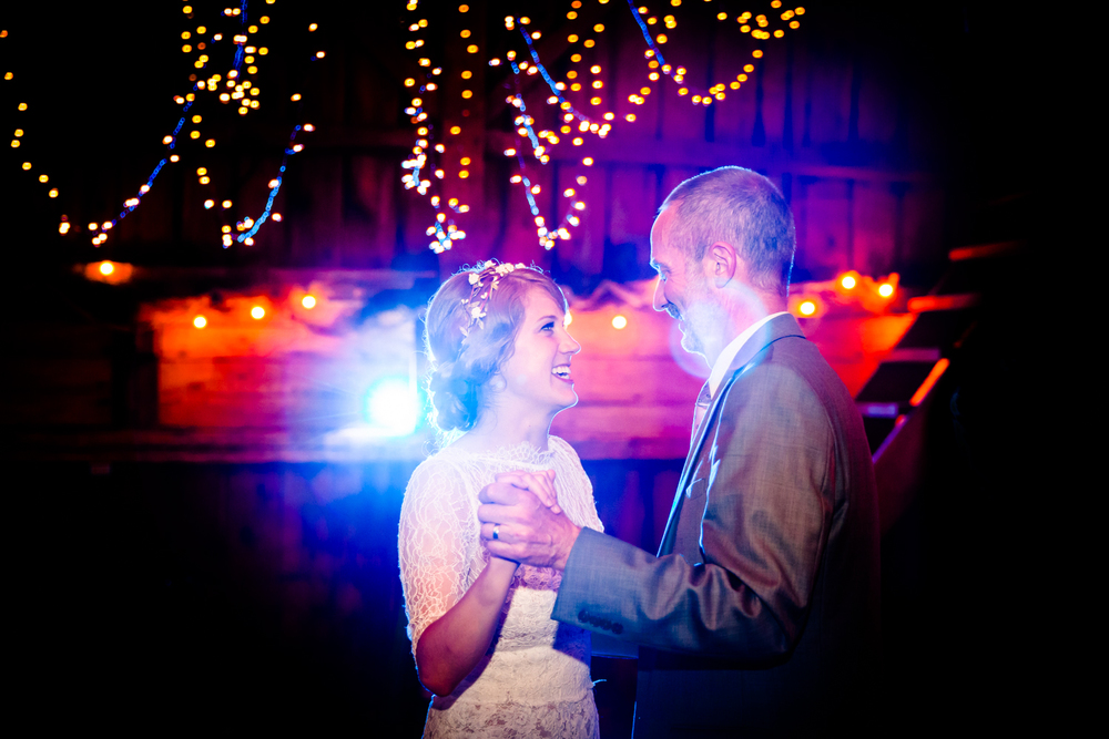 Father daughter dance at Burlap and Beams