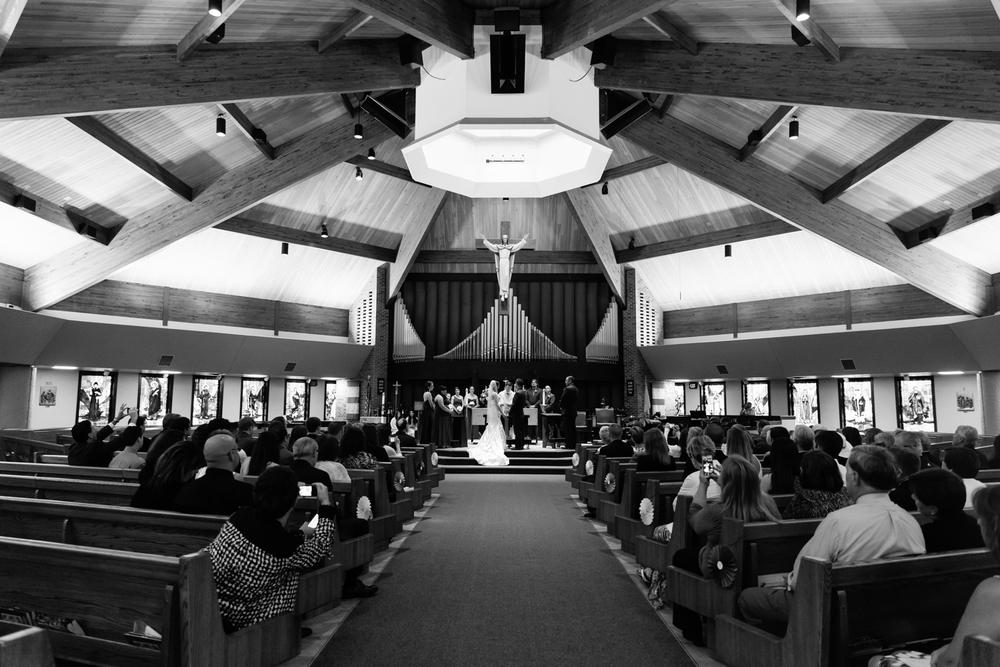 A wedding ceremony in Syracuse, NY.