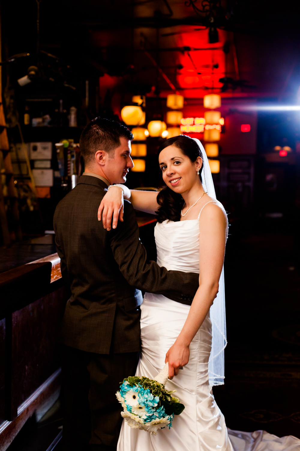 A beautiful bride and groom photographed by a Syracuse wedding photographer.