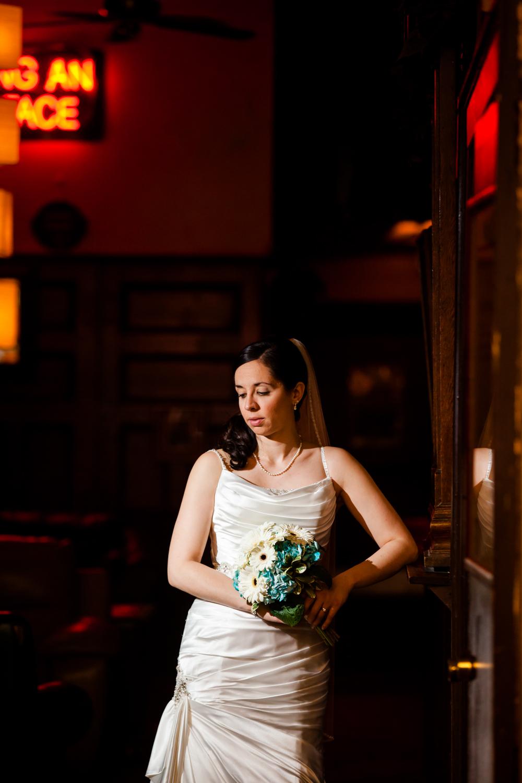 close up of a pretty bride