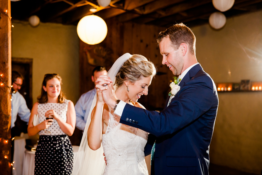 Bride and groom during their first dance.