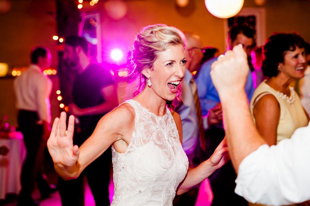 bride dances at the reception.