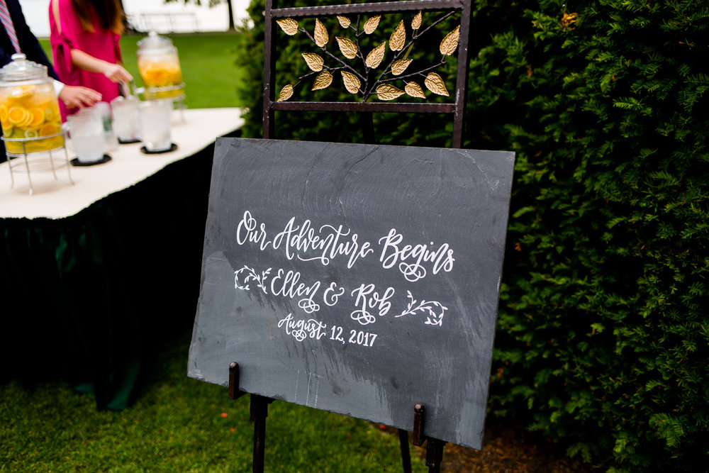 Calligraphy sign for wedding ceremony