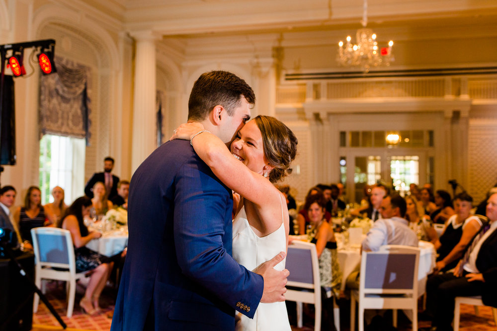 First dance at the Otesaga Resort in Cooperstown, NY.