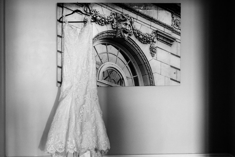 White Maggie Sottero Wedding Gown.