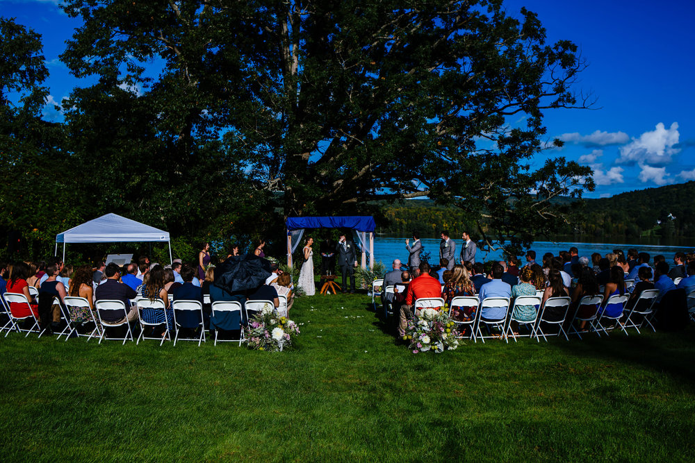 Jewish ceremony on the lawn of the Fontainebleau Inn in Alpine, NY.