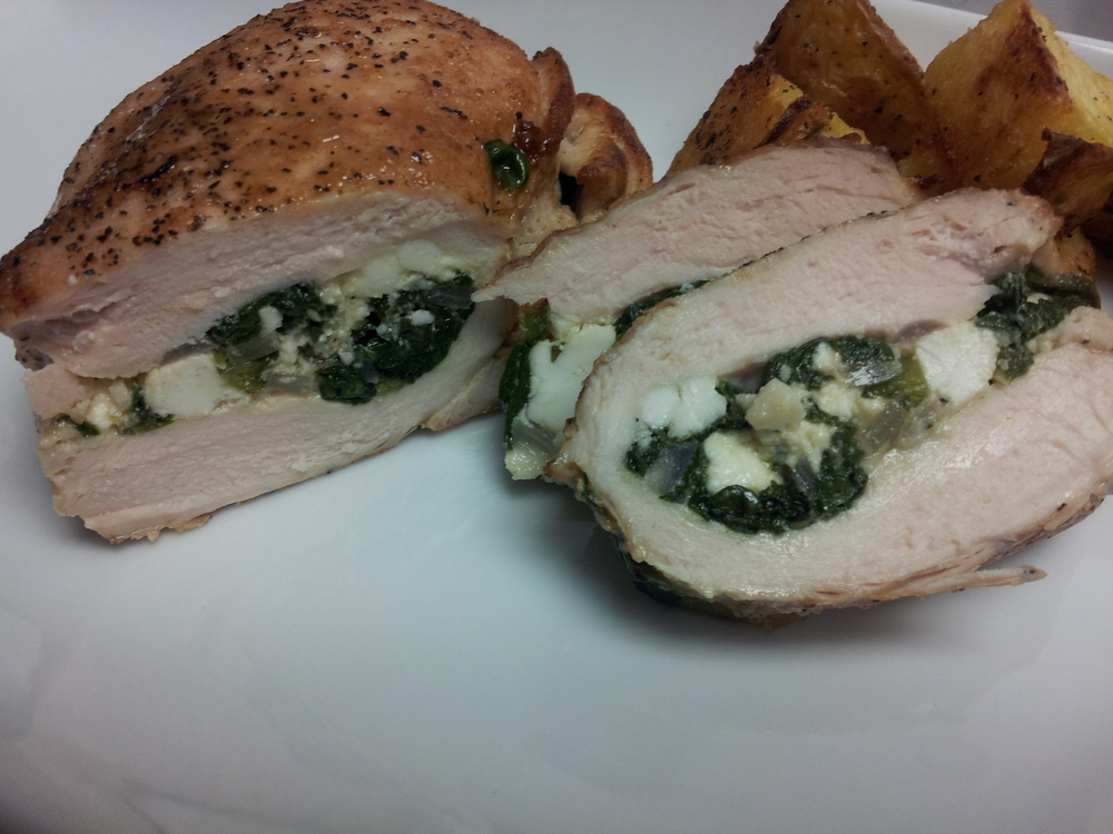 Chicken Filled with Spinach and Feta