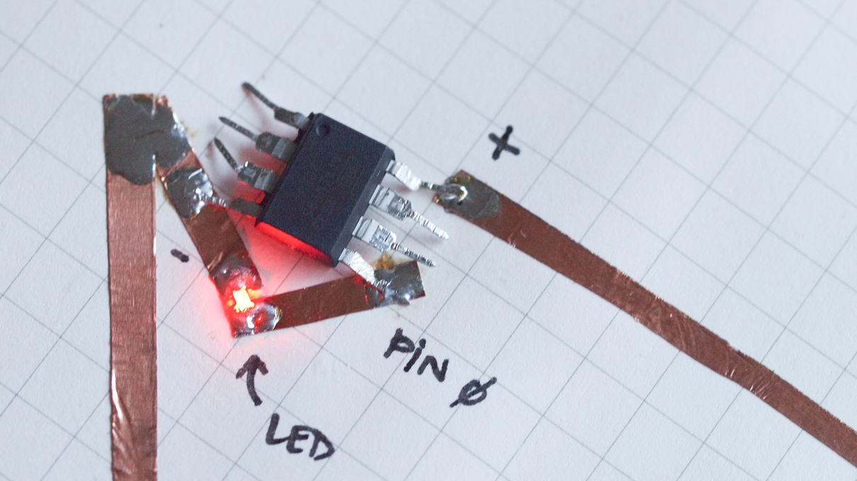 Adding Simple Lighting Effects To Paper Circuitry With Usb Circuit Development Made Easy Build Electronic Circuits Microcontrollers