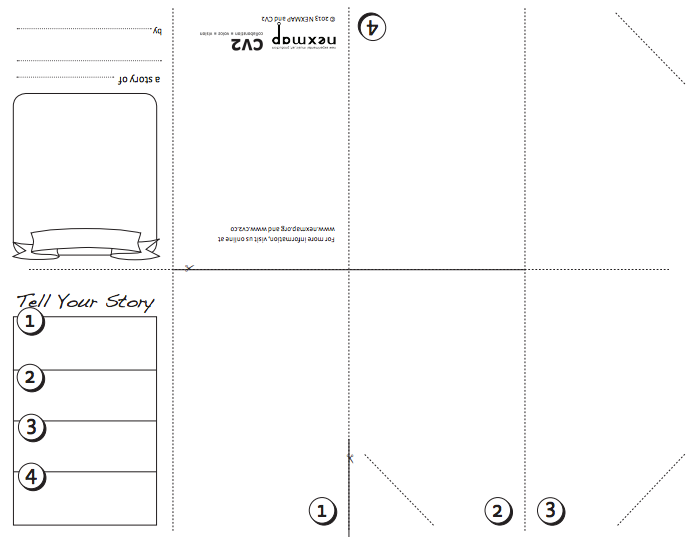 Activity Template - One Sheet Storybook (click image to download,instructions here)