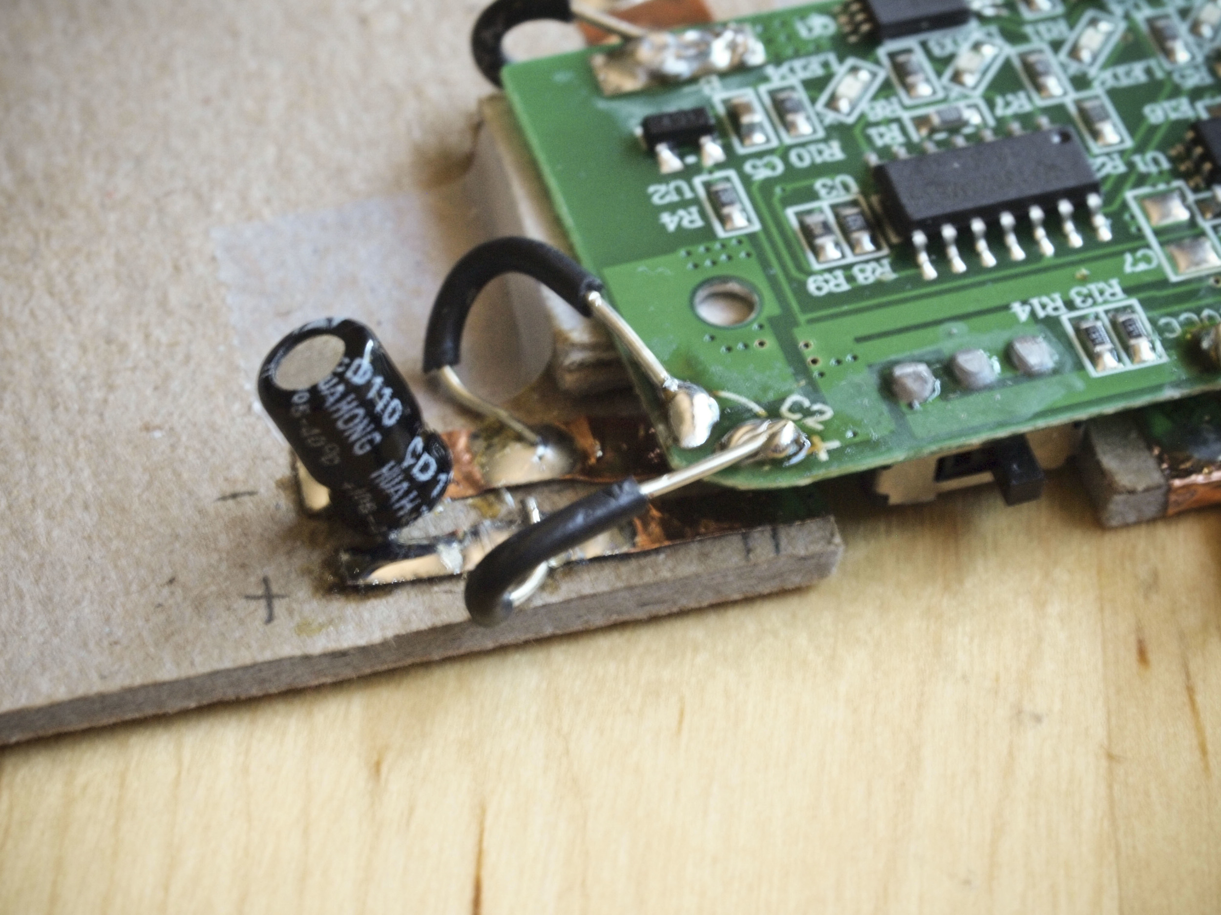 Rechargeable Battery Notebook Hack Prototype Nexmap Temperature Status Indicator Circuit And Hacked Hot Glue Gun