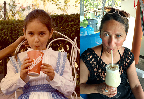 Then and now, both photos taken in El Salvador.