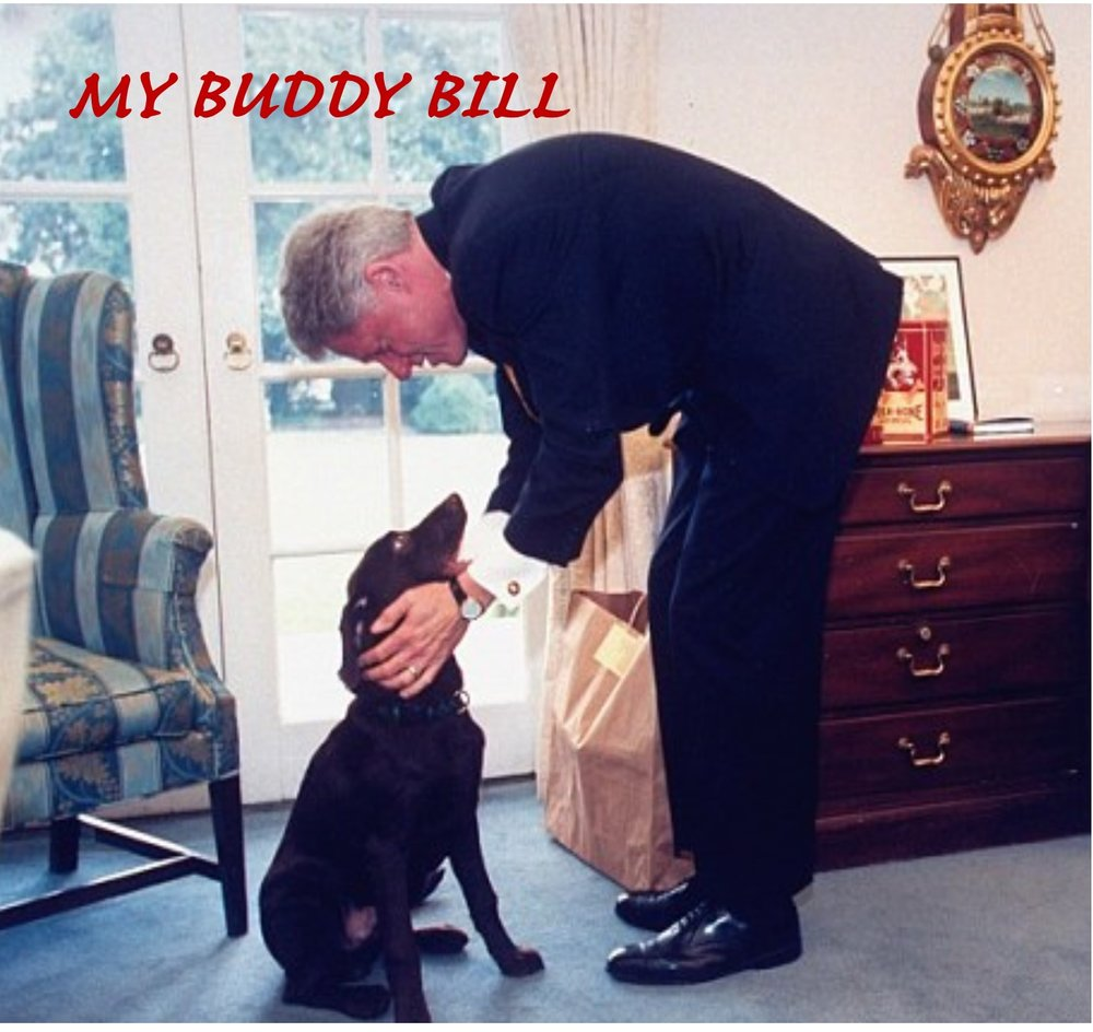 Ad Bill Clinton, dog and words My Buddy Bill.jpg