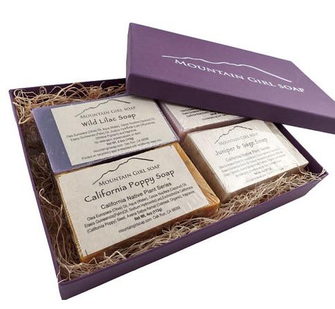 Handmade Vegan Soap Gift Set from Mountain Girl Soap $25