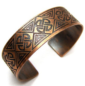 Celtic Designed Bracelet Cuff from Snazzy Trinkets $40