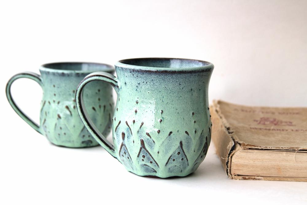 Mediterranean Ceramic Coffee Cup Mug