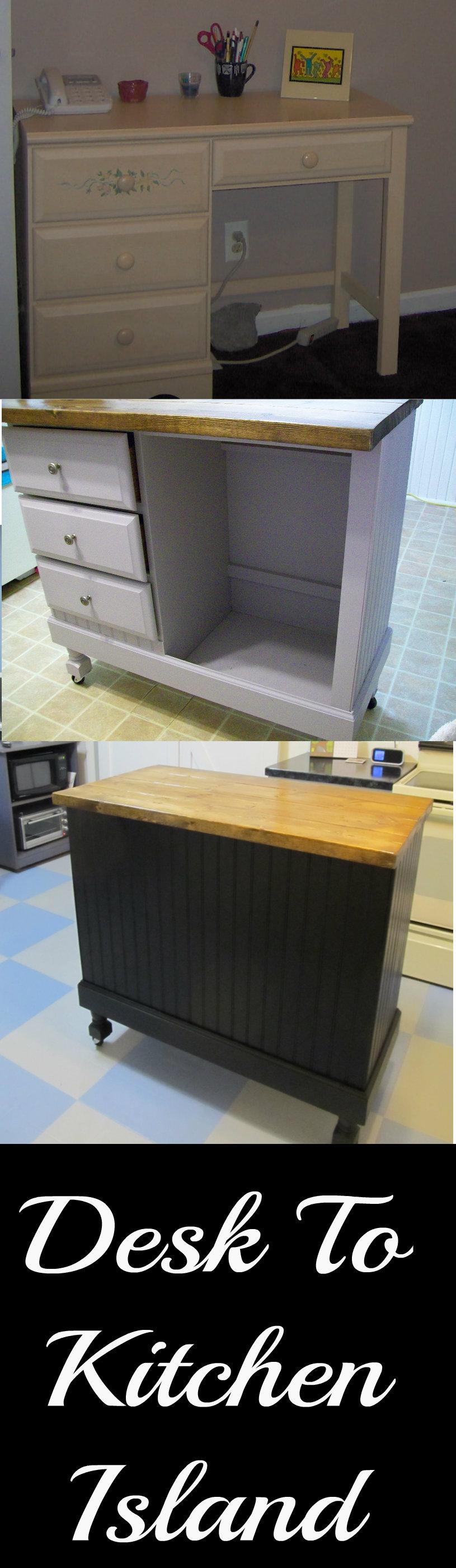 Desk to Kitchen Island