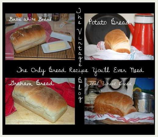 The Only Bread Recipe You'll Ever Need from The Vintage Recipe Blog