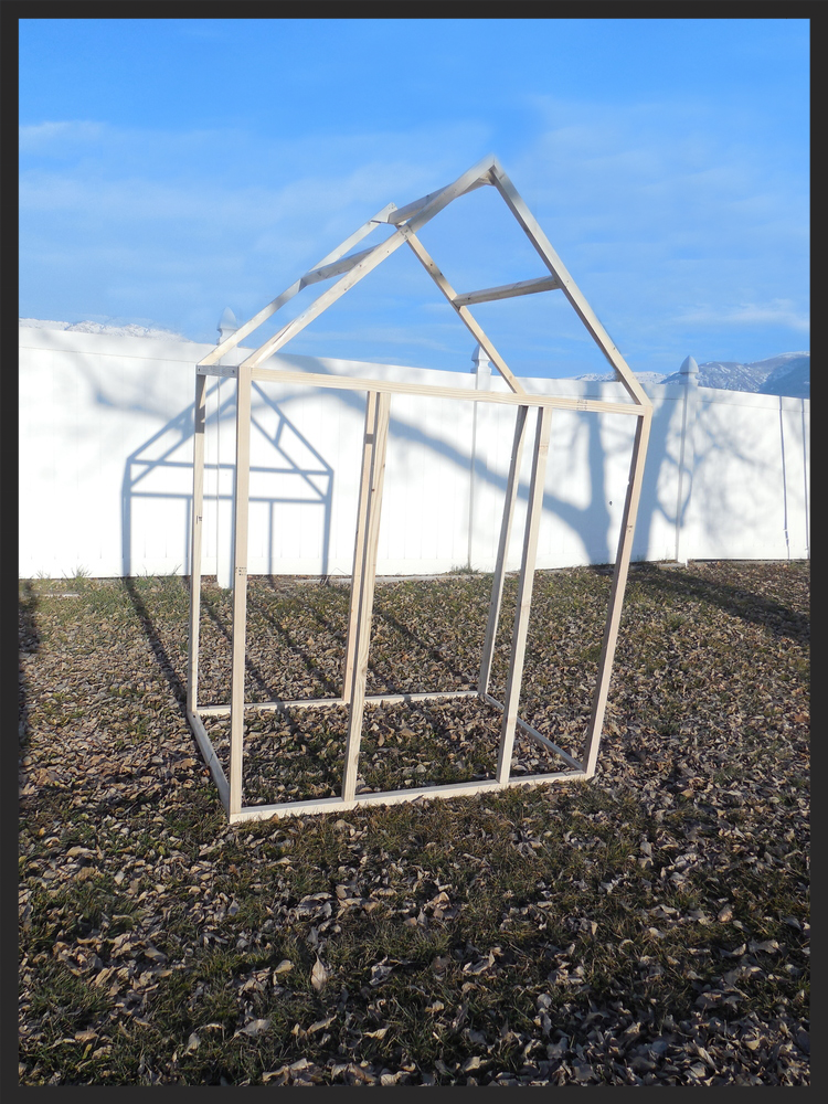 Greenhouse framed and ready