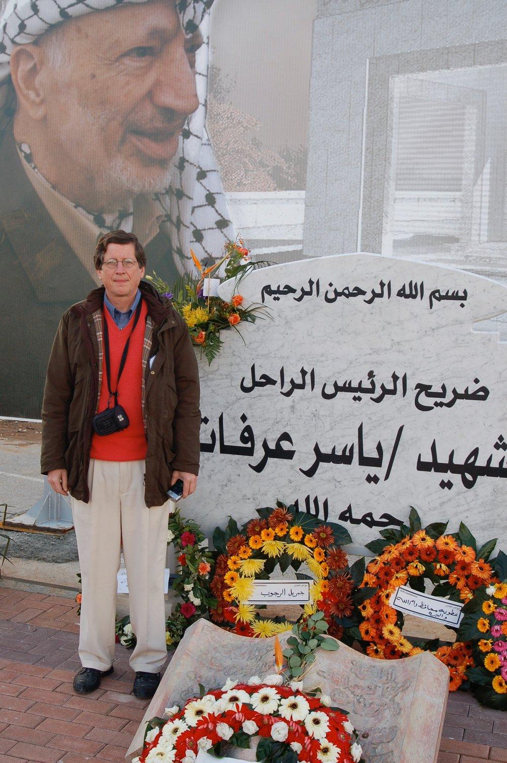 Bob at Arafat's grave