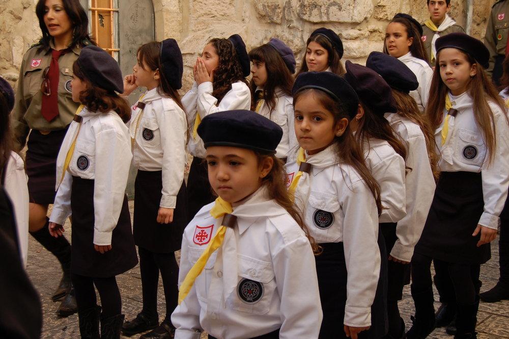 Jerusalem girl scouts