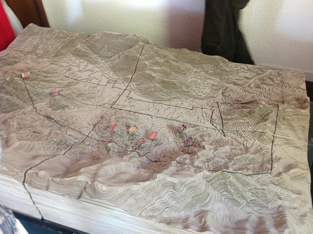 Topographic model of the land and its surroundings, marking key places for special zoning features.    Image credit: Jorge Kanahuati