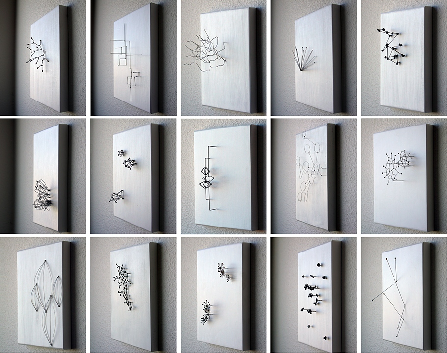 Stainless Steel, Wood. Series of 15 Panels. 2011.