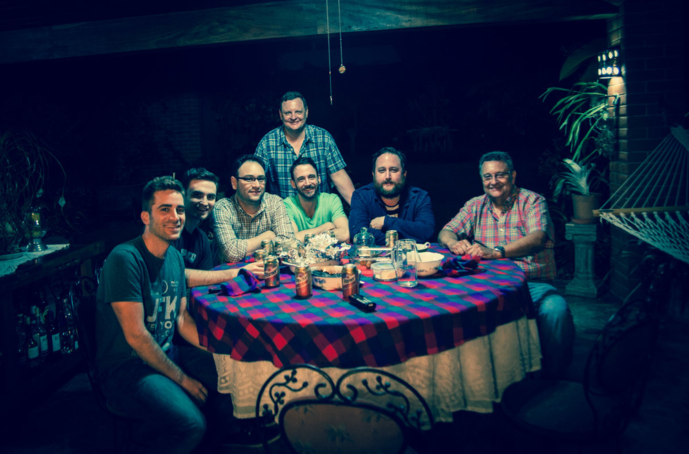 Dinner of legendary Latin America goodness. Pictured: Ben, Sean, Aaron (Brown Coffee), Winston, Brandon (Water Ave), Don Miguel, Miguel (standing).