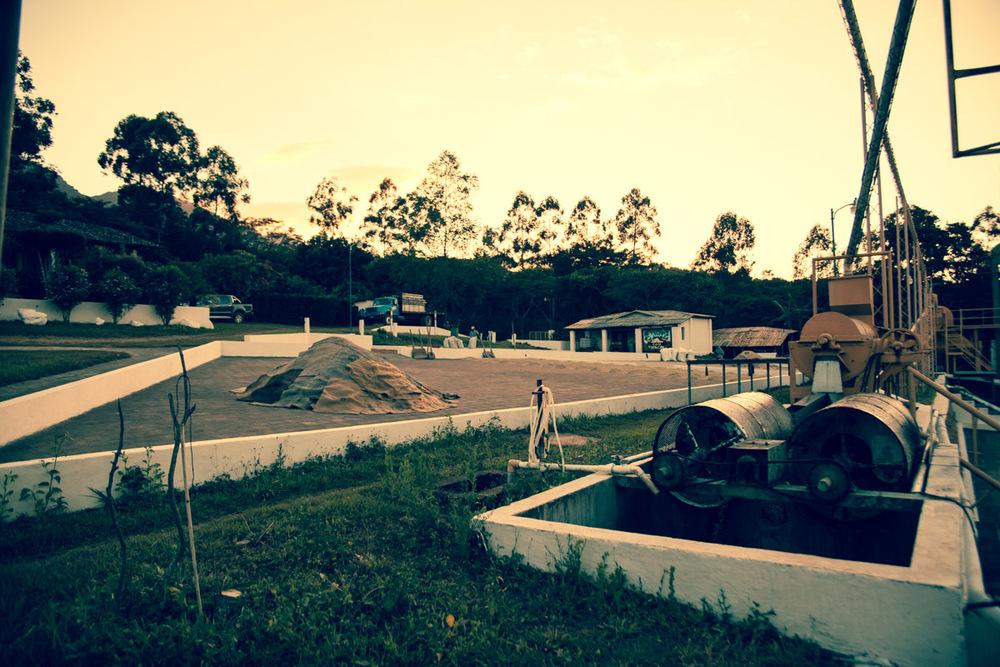 A view of the Beneficio Piedre Grande mill in El Salvador.