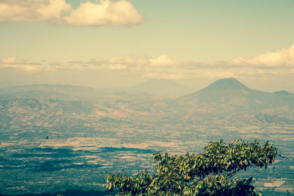 The view from the top of the Las Delicias farm in El Salvador.