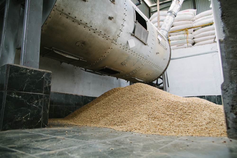 A large drum dryer used at a mill in Costa Rica.