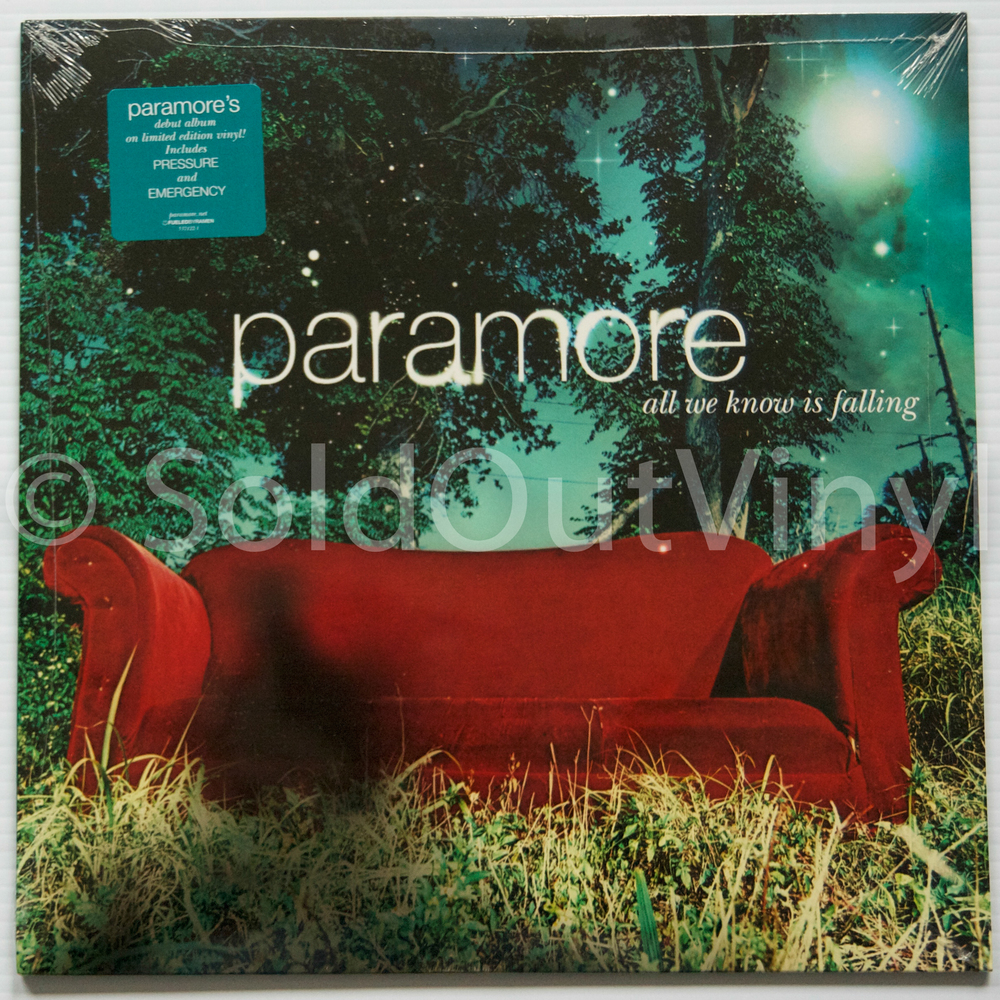 Paramore All We Know Is Falling Vinyl Teal Marble Lp