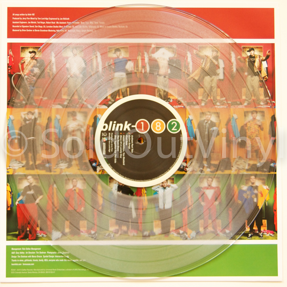 Blink 182 Take Off Your Pants And Jacket Vinyl Clear