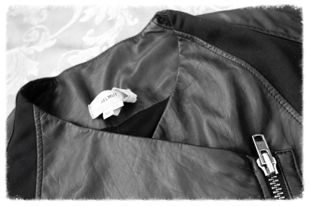 Designer Leather jacket professionally cleaned here at our facility.