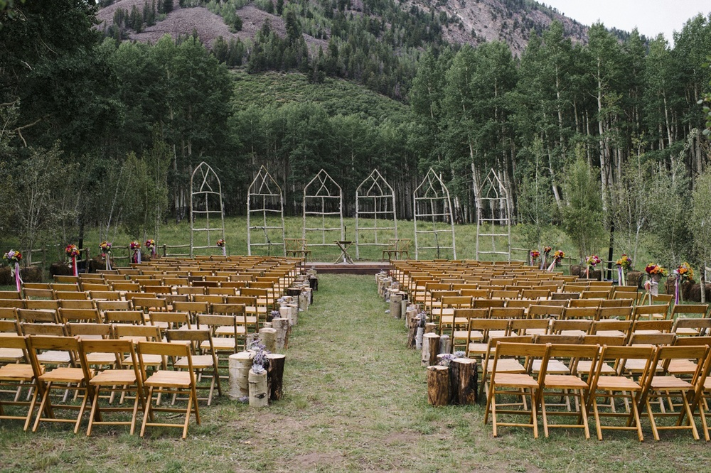 Outside Ceremony Decor