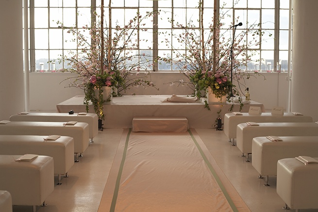 Peach Modern Ceremony Aisle