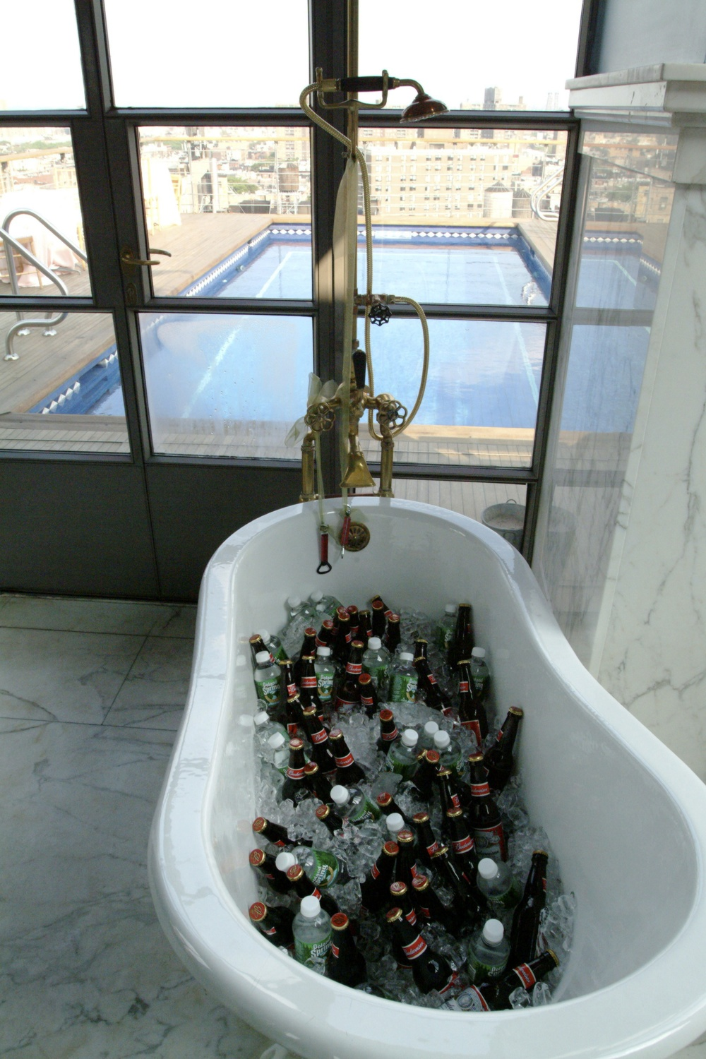 Beers in the tub!
