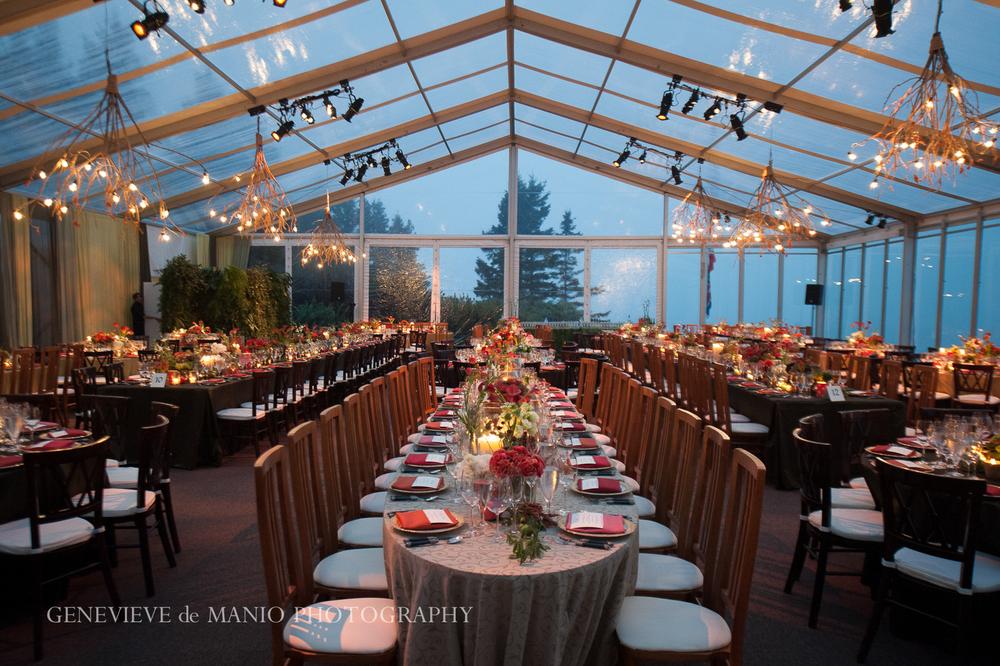 Dinner - Inside Tent