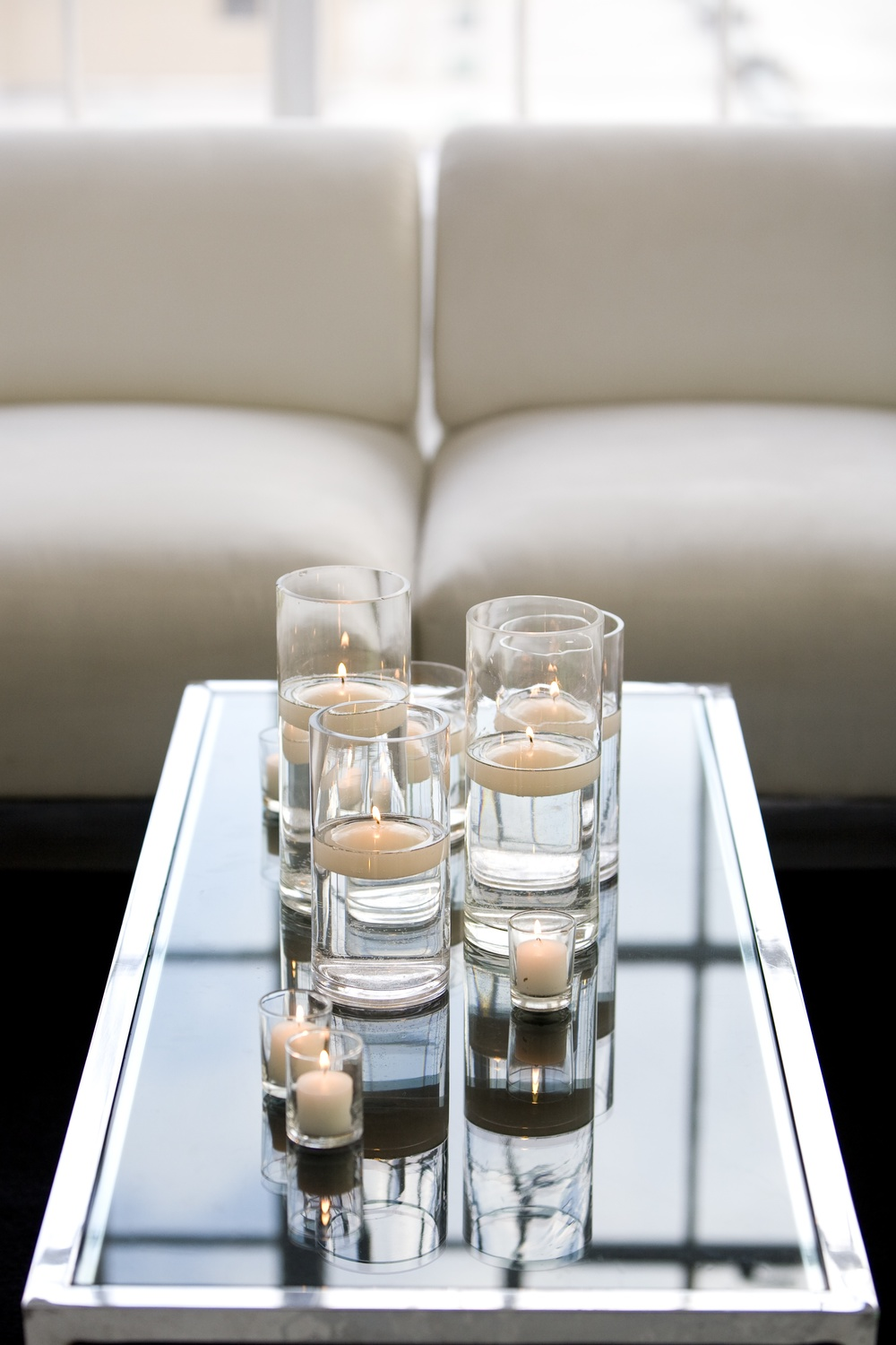 White Lounge with Candles