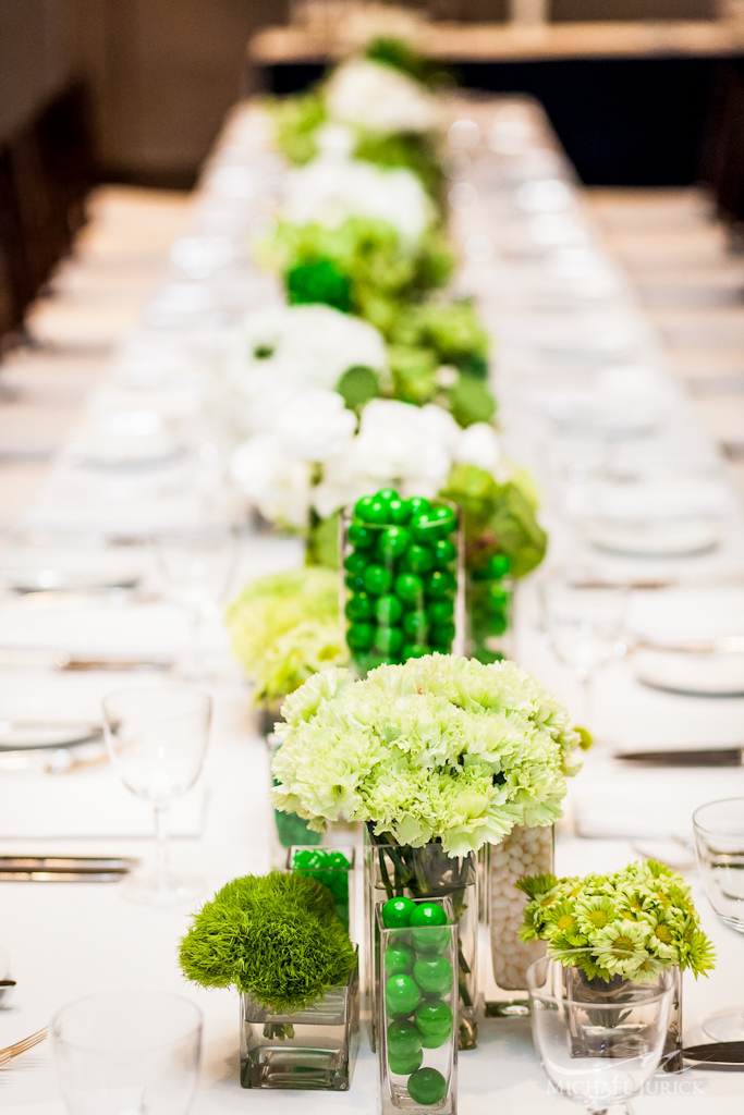 Green & White Tablescape