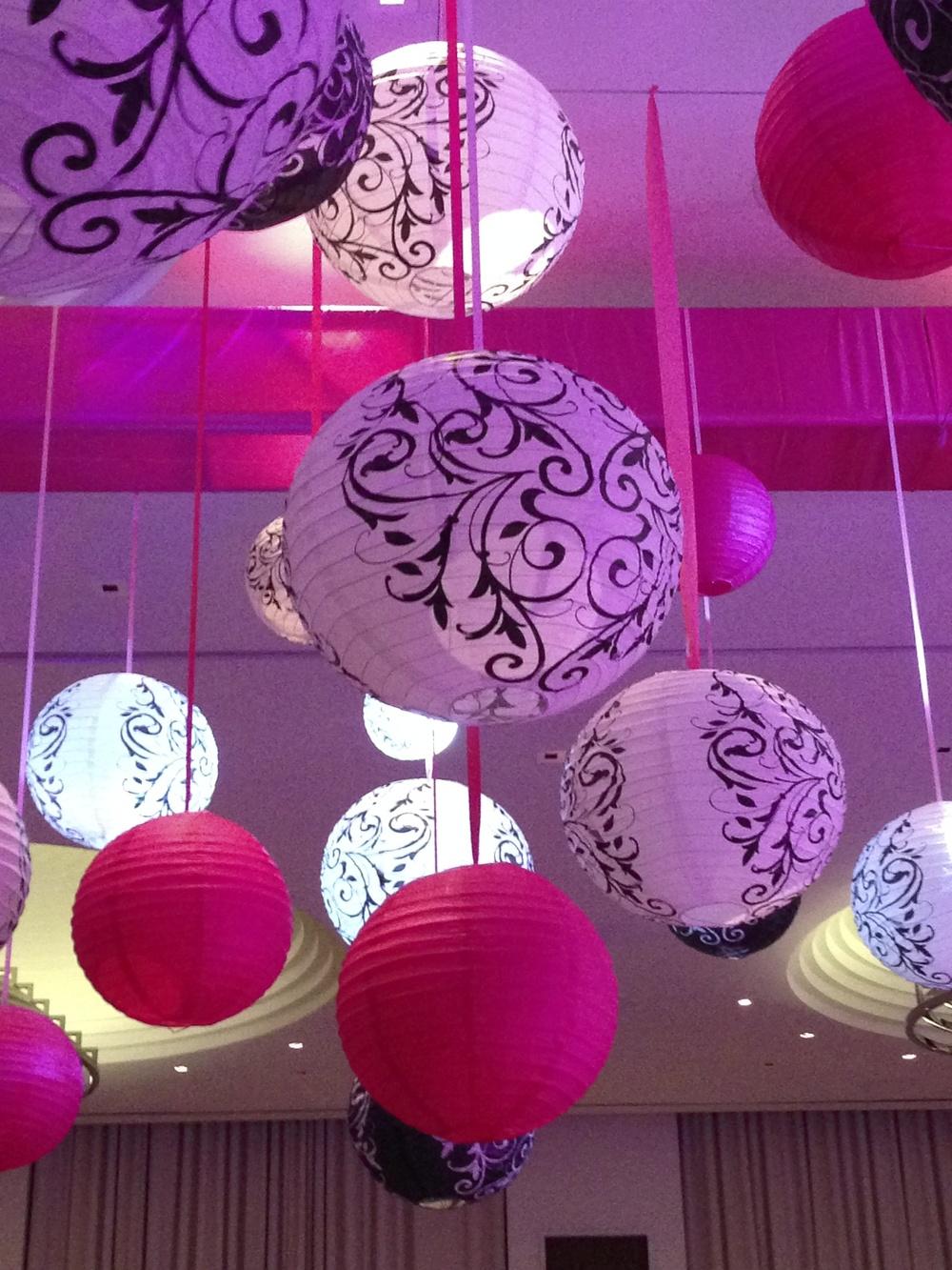 Hanging Lantern Installation