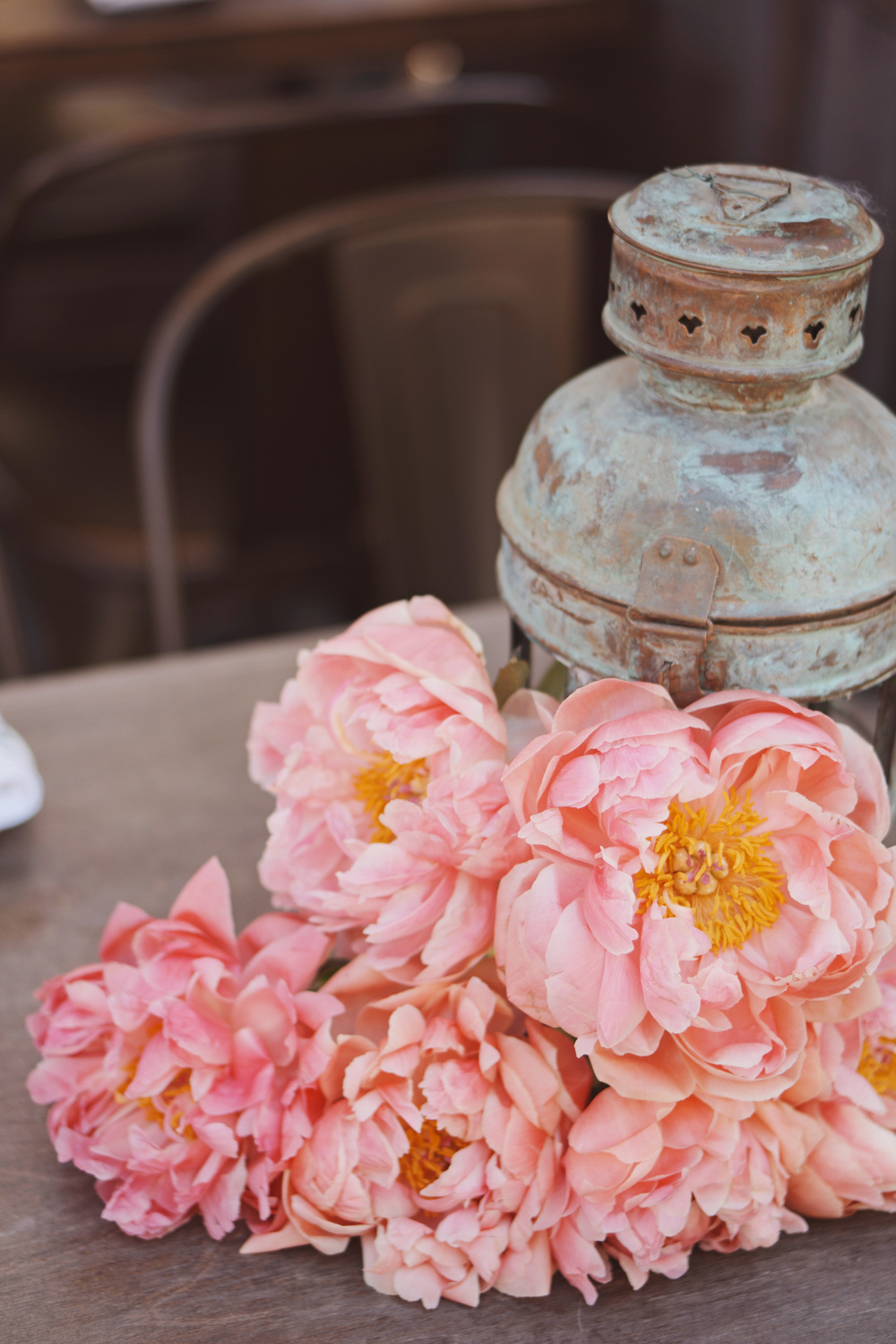 Pink/Antique Tablescape