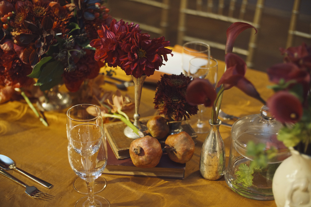Deep Red and Fall Tablescapes