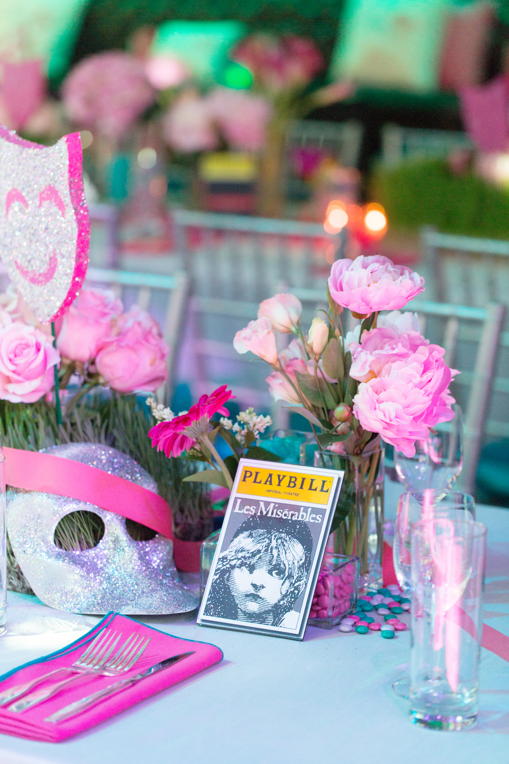 Drama Themed Table Decor