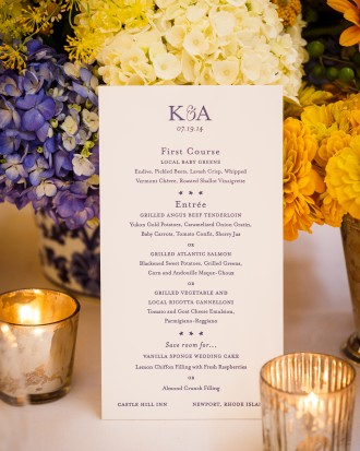 Specialty Menu and Decor