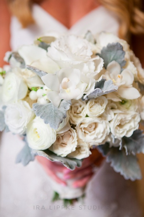 Bouquet - Whites with Dusty Miller