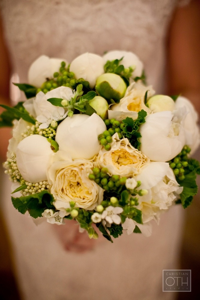 Bouquet - Whites with Touches of Green and Yellow
